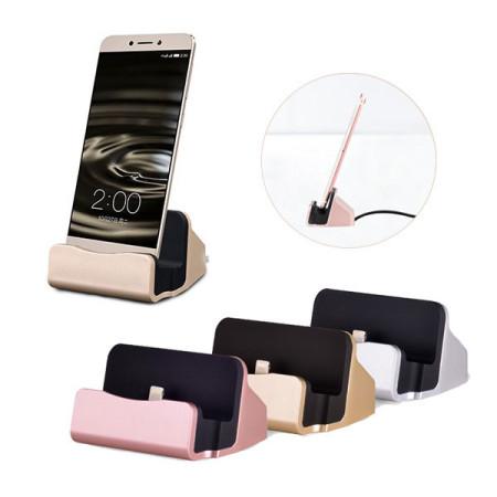 충전거치대 싱크독 8핀 5핀 c타입 휴대폰 충전독 크레들 마그네틱거치대 간편 충전 거치대 1초거치충전