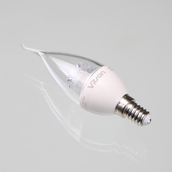 촛대구 LED플레임 비츠온 5W E14 3K 투명 전구색 KC - 조명천지, 6,300원, 디자인조명, 팬던트조명