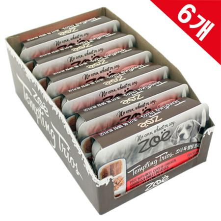 까다로운애견 사료대용 영양캔 3in1 비프치킨야채 6개
