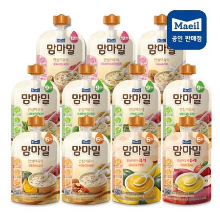 맘마밀 안심이유식6개월//9개월//12개월(100gX1팩)11가지맛