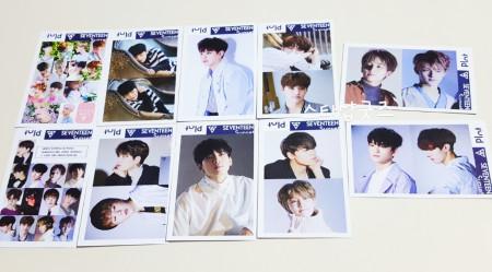 세븐틴 SEVENTEEN 굿즈  싸인 포토카드 포카10장세트