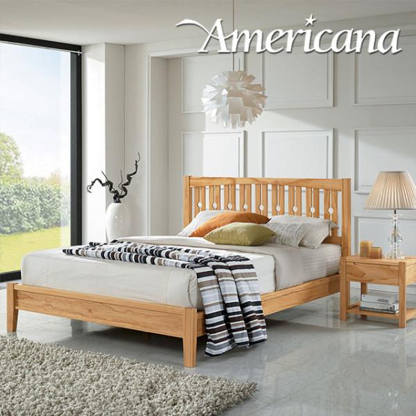 파주 상생마켓,[아메리카나베드] 포레 소나무 원목 침대+본넬 매트리스 (Q)