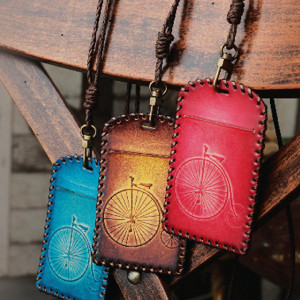 목걸이형 카드지갑 70x110mm 빨강 파랑 황토색
