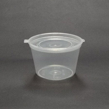 일회용 슬라임 용기 포장 소스 컵 강아지생식 소분 통 플라스틱 투명 보관 100ml 5개