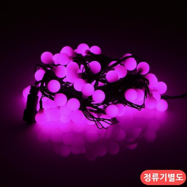 LED볼앵구 100구 연결형 검정선 핑크색 트리조명 - 조명천지, 10,600원, 이벤트조명, 이벤트조명