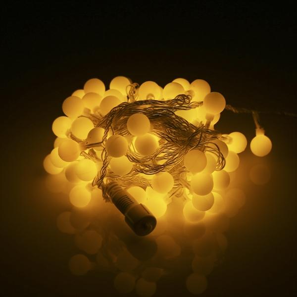 LED 트리구 100구 연결형 투명선 전구색 볼앵두 장식 - 조명천지, 12,000원, 이벤트조명, 이벤트조명