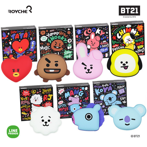Friends line BT21 hand warmers auxiliary battery