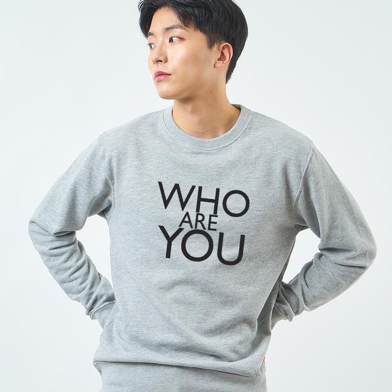 스마트 스토어에서 구입가능한 상품입니다. WHO ARE YOU by design fool 맨투맨 티셔츠