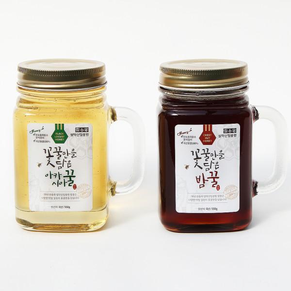 설악산밀봉원 아카시아꿀 밤꿀 2.4kg 1병