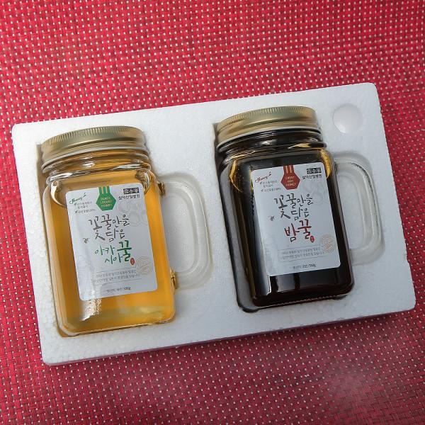 고맙다양양몰 - 농산물직거래쇼핑몰,설악산밀봉원 아카시아꿀 밤꿀 2.4kg 1병