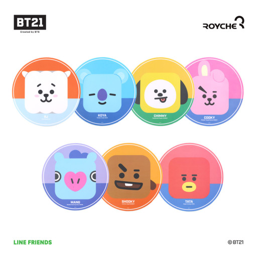 Friends line BT21 PVC mouse pad