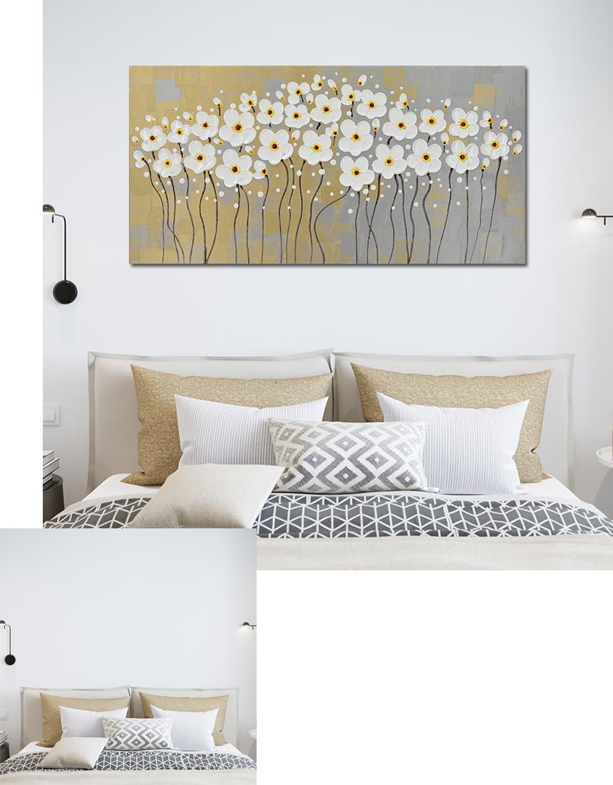 대형 꽃그림 캔버스 인테리어 액자 - 나무마을, 194,000원, 홈갤러리, 캔버스아트