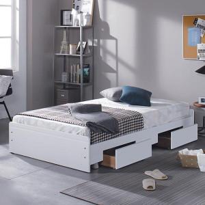 [인쏘노] 싱글/슈퍼싱글침대+매트포함 1인 자취방 주니어 학생 성인 침대