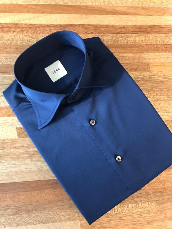 벌브셔츠 프레스티지라인 로얄네이비 코튼 셔츠