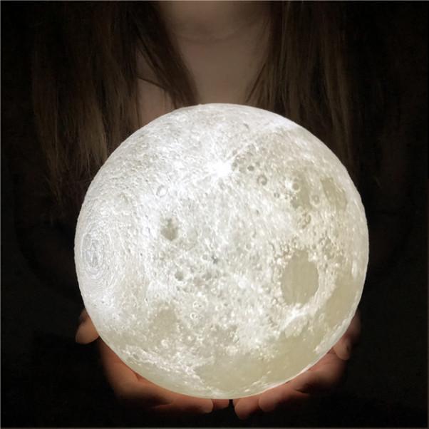 리브앤러브 3D 입체 달 무드등 2색 7색