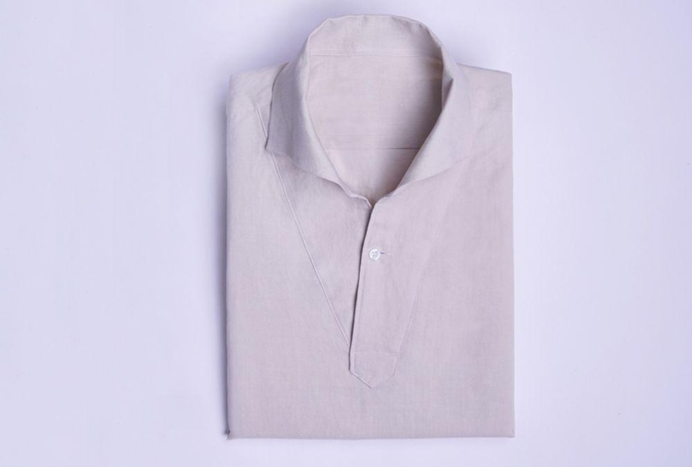 벌브셔츠 아마사 린넨 베이지 클래식 풀오버셔츠
