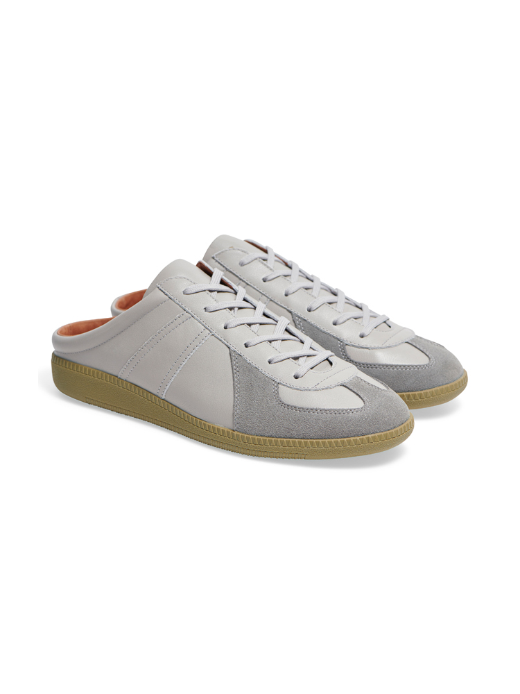Louis Leather Mule Grey