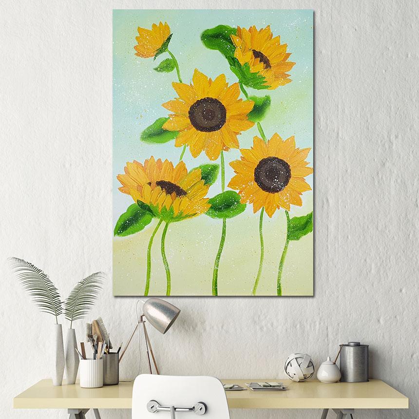 행운을 부르는 꽃 그림 액자 - 나무마을, 114,000원, 홈갤러리, 캔버스아트