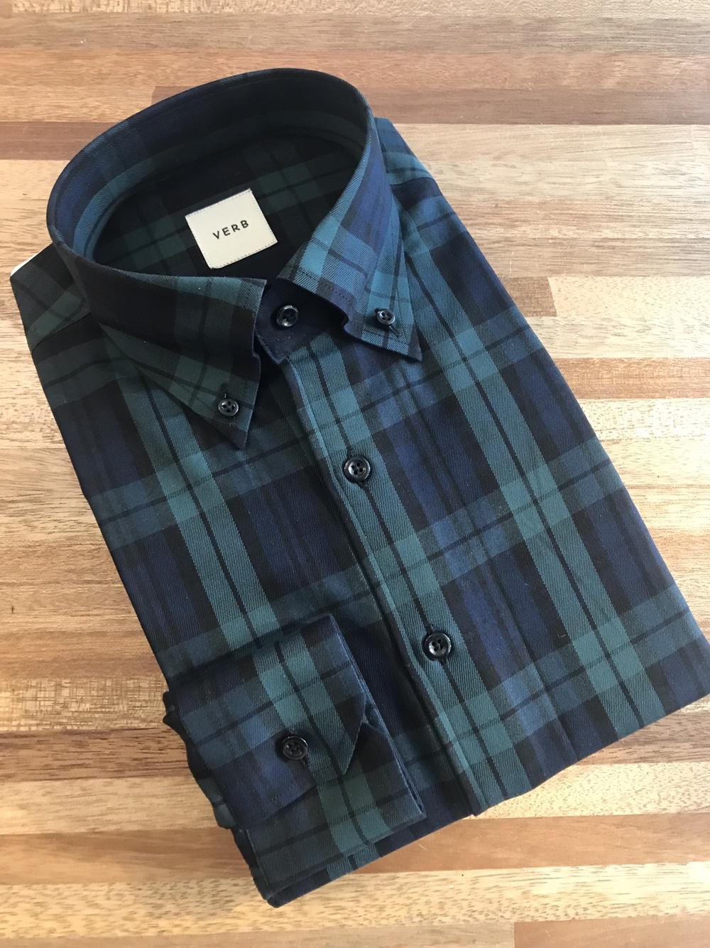 벌브셔츠 블랙와치(타탄체크) 버튼다운셔츠