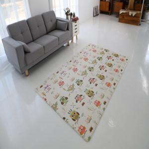 늘디딤 PVC 어린이 놀이방매트 양면 디자인 부엉이 유아매트