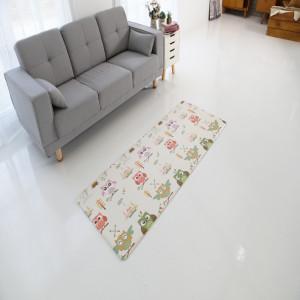 늘디딤 PVC 어린이 싱글매트 양면 디자인 부엉이 12Tx70x180
