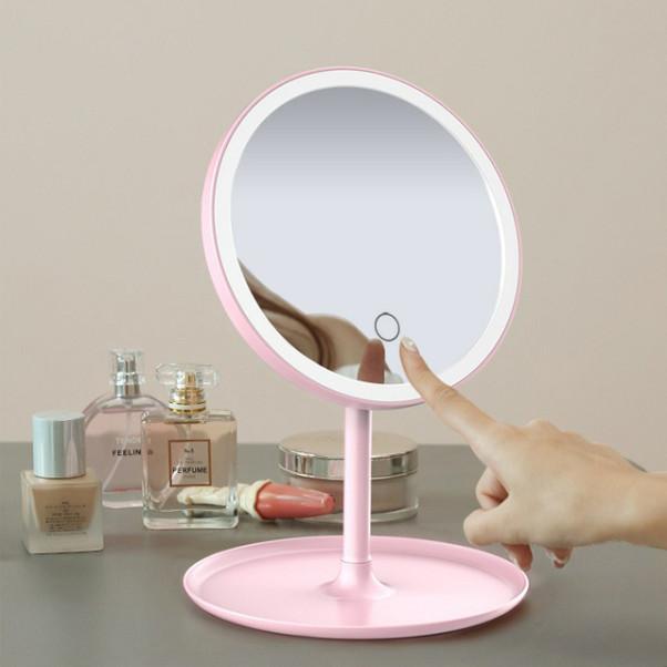 파우더룸 메이크업 탁상용 조명 LED 거울