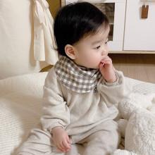(당일출고) 아기 유아 사계절 스카프빕 요루거즈4겹 극세사턱받이 (핸드메이드)