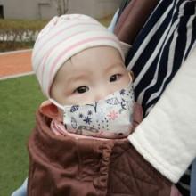 베이비 아기 입체마스크 목걸이형 돌아기전용