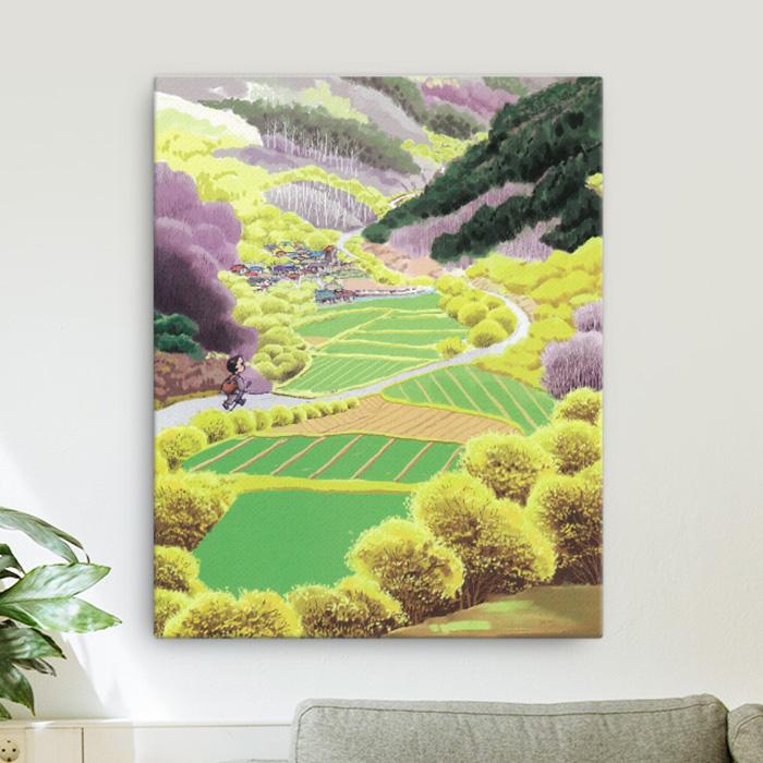 스마트 스토어에서 구입가능한 상품입니다. 봄 밭. 이상무 (캔버스 200x250~400x500mm)