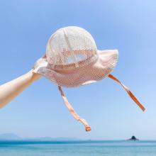 여름 바다에가요 네트썬햇 유아동여름모자 아동네트모자