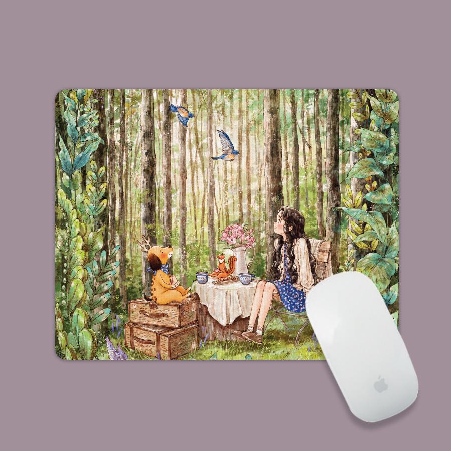 스마트 스토어에서 구입가능한 상품입니다. 숲속작은카페. 애뽈(아트 마우스패드)