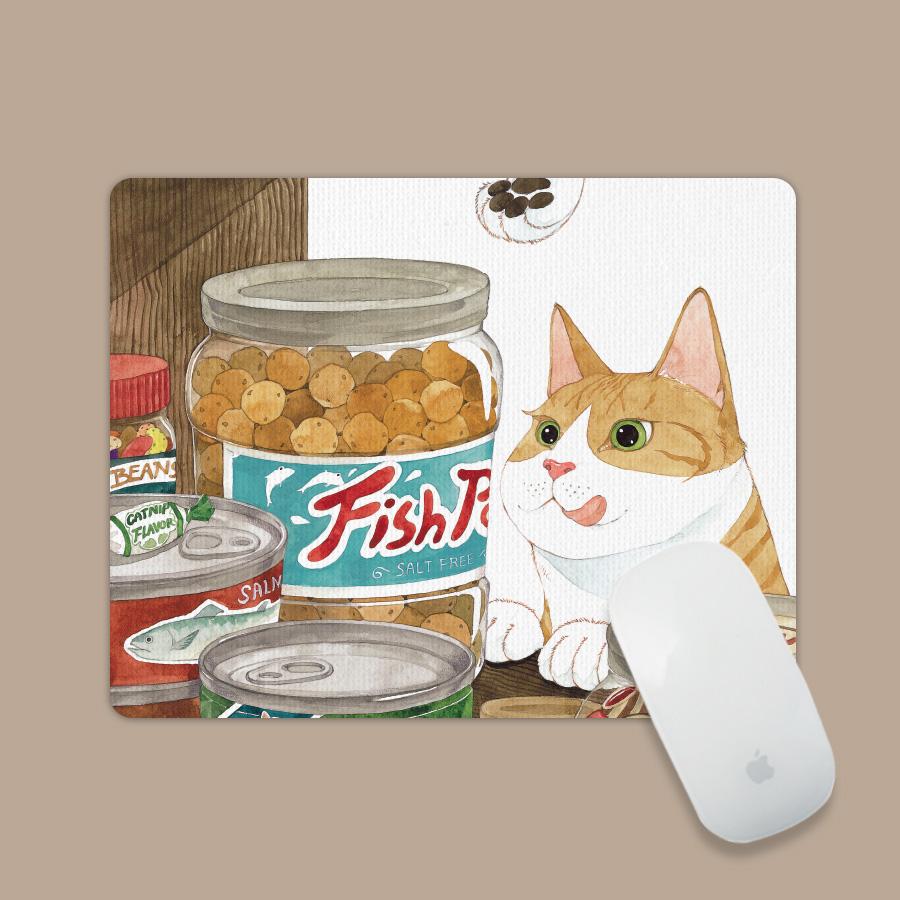 스마트 스토어에서 구입가능한 상품입니다. 생선맛 과자. GraceJ(아트 마우스패드)