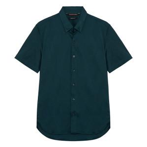 지이크 파렌하이트 릴렉스핏 코튼 반팔 그린 오픈넥 셔츠 (FABAD5713)