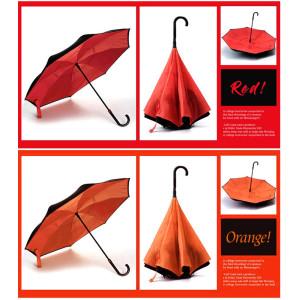거꾸로 우산 자동 AUTO 장우산 패션 아이템 특허품 kc 획득