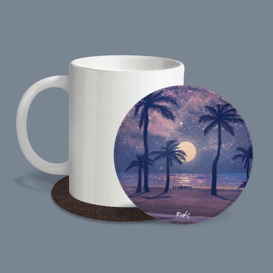 스마트 스토어에서 구입가능한 상품입니다. Paradise.KUSH (레더코스터) (컵 받침 2개 세트)