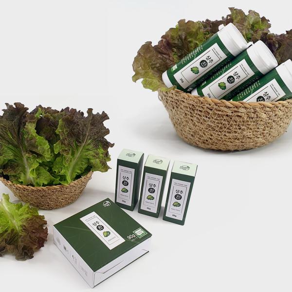 오산함께장터,합성첨가물이 들어가지 않은 유기농 상추환 30g×3통 1set