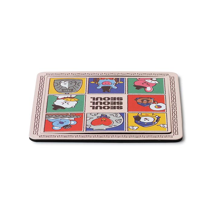 Friends BT21 line edition Seoul City Paper Magnet