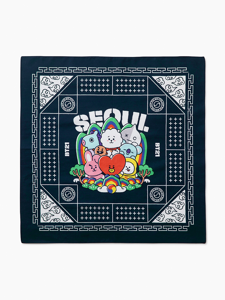 Line edition of the Seoul City Friends BT21 Bandana