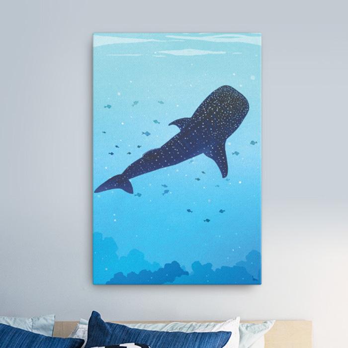 스마트 스토어에서 구입가능한 상품입니다. 고래상어.리안 (캔버스 액자 300x450~900X1200mm)