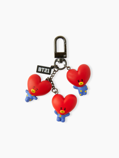 Friends line BT21 TATA noisily figures keyring