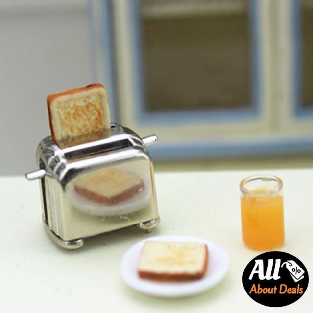 토스터 미니어처 인형 소품 토스트기 미니어쳐 장식 돌하우스 인테리어 : 미니메어