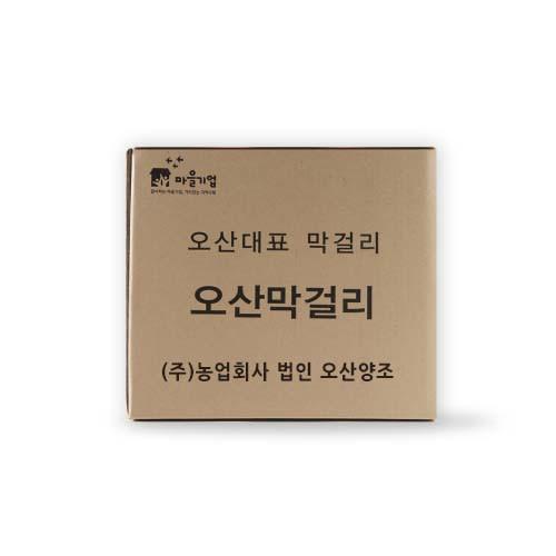 오산함께장터,오산양조 오산막걸리 500mL x 12병 박스_도수 6%