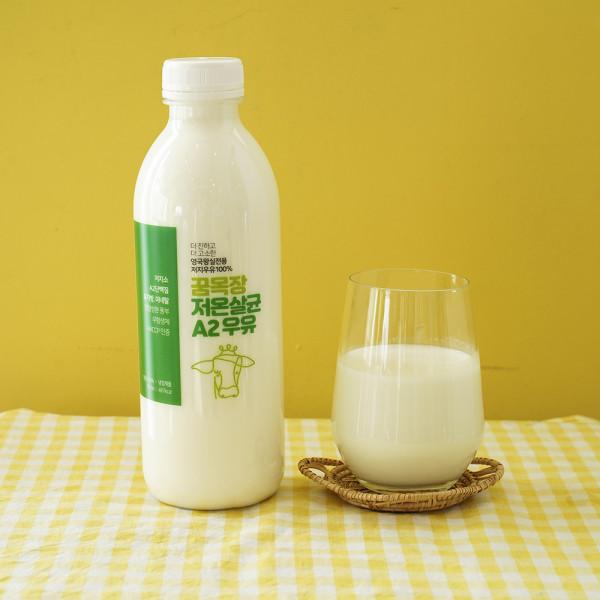 김포시 사회적경제마켓,목장에서 당일 착유한 무항생제 꿈목장 저온살균 A2우유