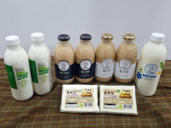 김포시 사회적경제마켓,꿈목장 유제품 셋트