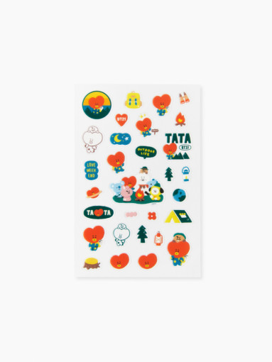Line Friends BT21 TATA Green Planet Clear Sticker