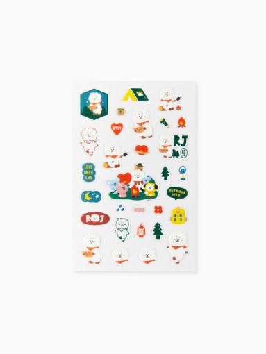 Line Friends BT21 RJ Green Planet Clear Sticker