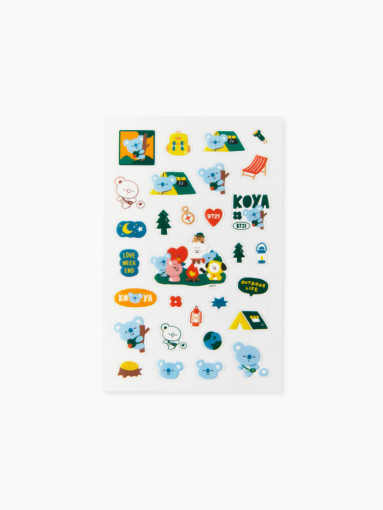Friends BT21 KOYA clear lines Green Planet Stickers