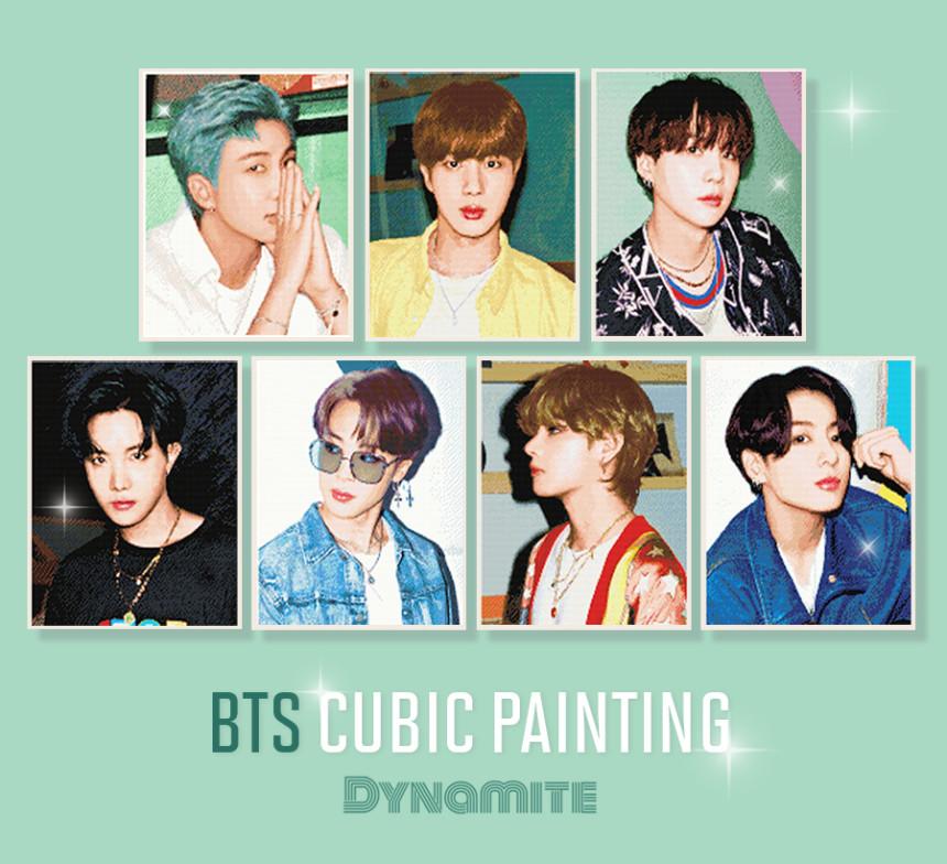 BTS Dynamtie Cubic Painting