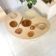 오뉴 땅콩테이블 좌식 편안한 다기능 테이블 땅콩책상 인테리어 가구