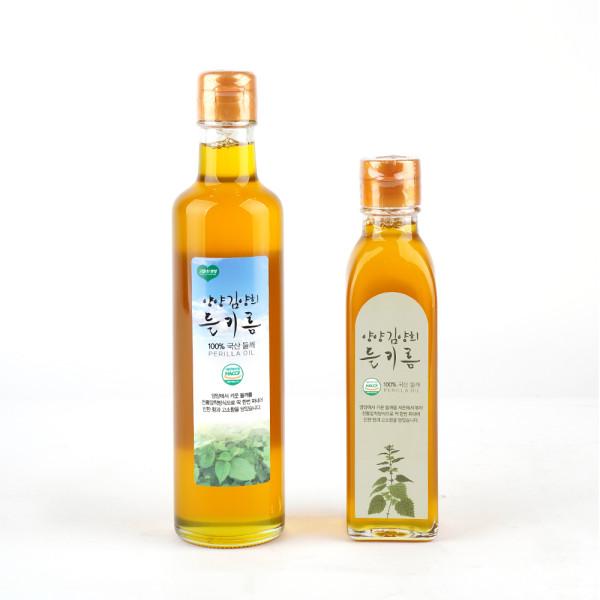 고맙다양양몰 - 농산물직거래쇼핑몰,강원도 양양재배 100% 국산 저온압착 김양희 들기름 선물세트